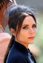Victoria Beckham leaves St George's Chapel at Windsor Castle after the wedding of Meghan Markle and Prince Harry. Saturday May 19, 2018. Chris Radburn/Pool via REUTERS